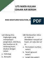 Uts Penyediaan Air Bersih s1 Kesmas