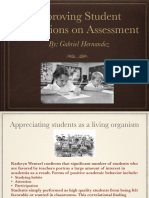 improving student perceptions on assessment