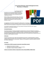 FIDIC Conditions of Contract Planning, Claims Management & the Resolution of Disputes.