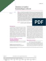 Catécholamines et autres sympathomimétiques directs