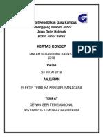 Kertas Kerja Pengurusan Majlis