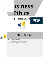 BUS3182BusinessEthics Introduction