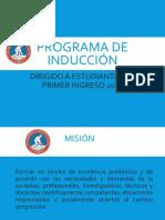 Programa de Inducción a nuevos alumnos