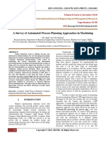 A Survey of Automated Process Planning Approaches in Machining
