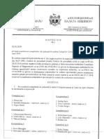 Completele de judecată în cadrul Colegiilor Curții de Apel Chișinău pentru anul 2019, completele specializate