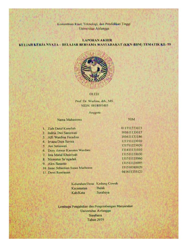 Laporan Pertanggungjawaban Kkn Surabaya