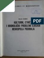 M. Kosoric, Kulturni, Etnicki i Hronoloski Problemi Ilirskih Nekropola Podrinja