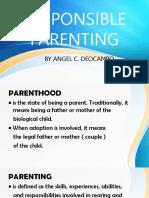 Responsible Parenting and Bullying