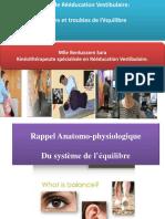 Cours de Rééducation Vestibulaire