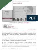 Edith Stein. Palabras Para El Diálogo – Teresa, De La Rueca a La Pluma