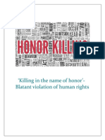 Killing in the Name of Honor