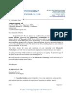 Certificate Mca Internship