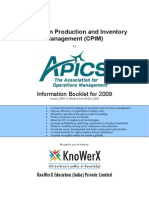KEI APICS CPIM Information Booklet 2009.13