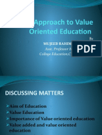 Value Oriented Education Ppt.