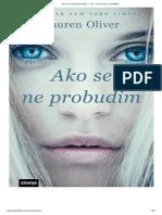 Loren Oliver Ako Se Ne Probudim DEO
