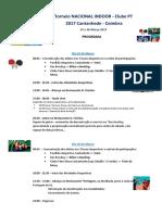 Programa Torneio INDOOR Mar2017