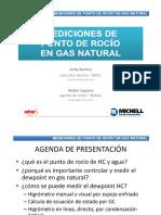 MEDICION DE PUNTO DE ROCÍO EN GAS NATURAL