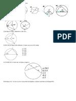 Exercícios sobre Angulos Na Circunferencia