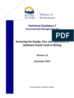 Assessing Design Size and Operation of Sediment Ponds