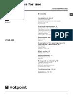 Hotpoint HV8B 593 Manual