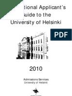 International Applicants Guide- Helsinki