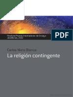 La Religión Contingente (Extracto)_Carlos Nieto Blamco