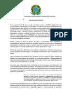 Comunicado Público Nº 01  - Mecanismo Nacional de Prevenção e Combate à Tortura MNPCT