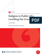 Religion in public life. Leveling the ground