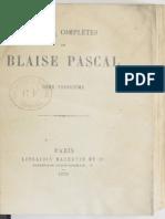 Pascal Ecrits Maths Physique