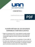 Flexión Método Elástico --Concretos 1