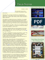 Field Notes From The Meg Whitman Campaign - October 1, 2010