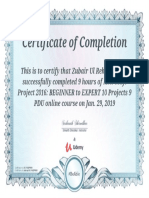 Ms Project Certificate 2016