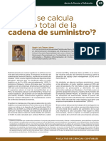 COMO SE CALCULA EL COSTO TOTAL DE LA CADENA DE SUMINISTRO