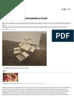El Libro Como Objeto, El Documento y El Arte