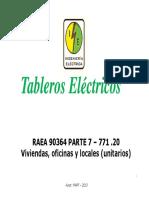 tableros según AEA
