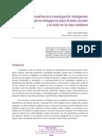 Artículo RIE Revista Iberoamericana de Educación 2008 - Una enseñanza e investigación inteligentes de la inteligencia para el éxito escolar y el éxito en la vida cotidiana