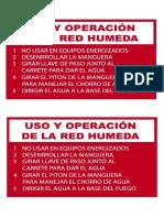 Instrucciones Para RED HUMEDA