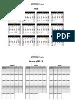 Calendário e Agendamento - Matriz