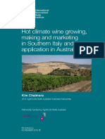 Hot climate wine growing, making and marketing in Southern Italy and its application in Australia.