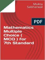 Mathematics Multiple Choice (MCQ) for 7th Standard_nodrm