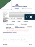 Design NOC Application Form