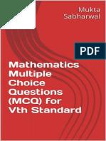 Mathematics Multiple Choice Questions (MCQ) for Vth Standard_nodrm