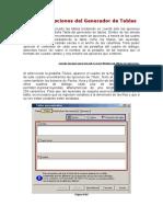 Titulos y Opciones Del Generador de Tablas - Copia