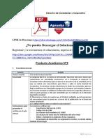 Producto académico N°3 - DERECHO DE SOCIEDADES Y CORPORATIVO
