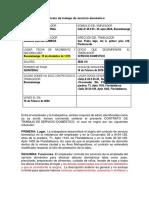 Contrato Empleada Domestica