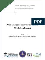 Massachusetts Community Justice Workshop Report 2017