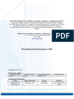 Guatemala, MAGA. Plan Institucional Respuesta a Desastres 2012.