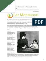 Compreendendo Montessori a Preparação Interna Do Adulto Parte I