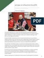 07-02-2019 - Invita Cofetur a Participar en La Ruta de La Onza MTB 2019 - Canalsonora.com