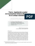 Tierra, legislación del campo colombiano